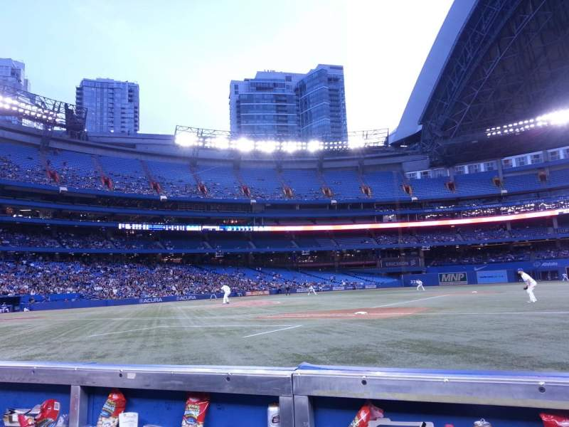 Seating view for Rogers Centre Section 115L Row 1 Seat 107