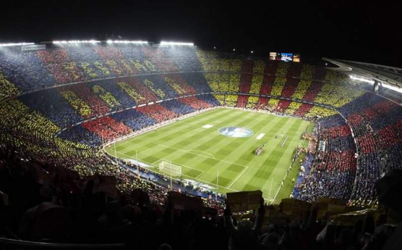 Seating view for Camp Nou Section Gol Sur Nike Row 426 Seat 3