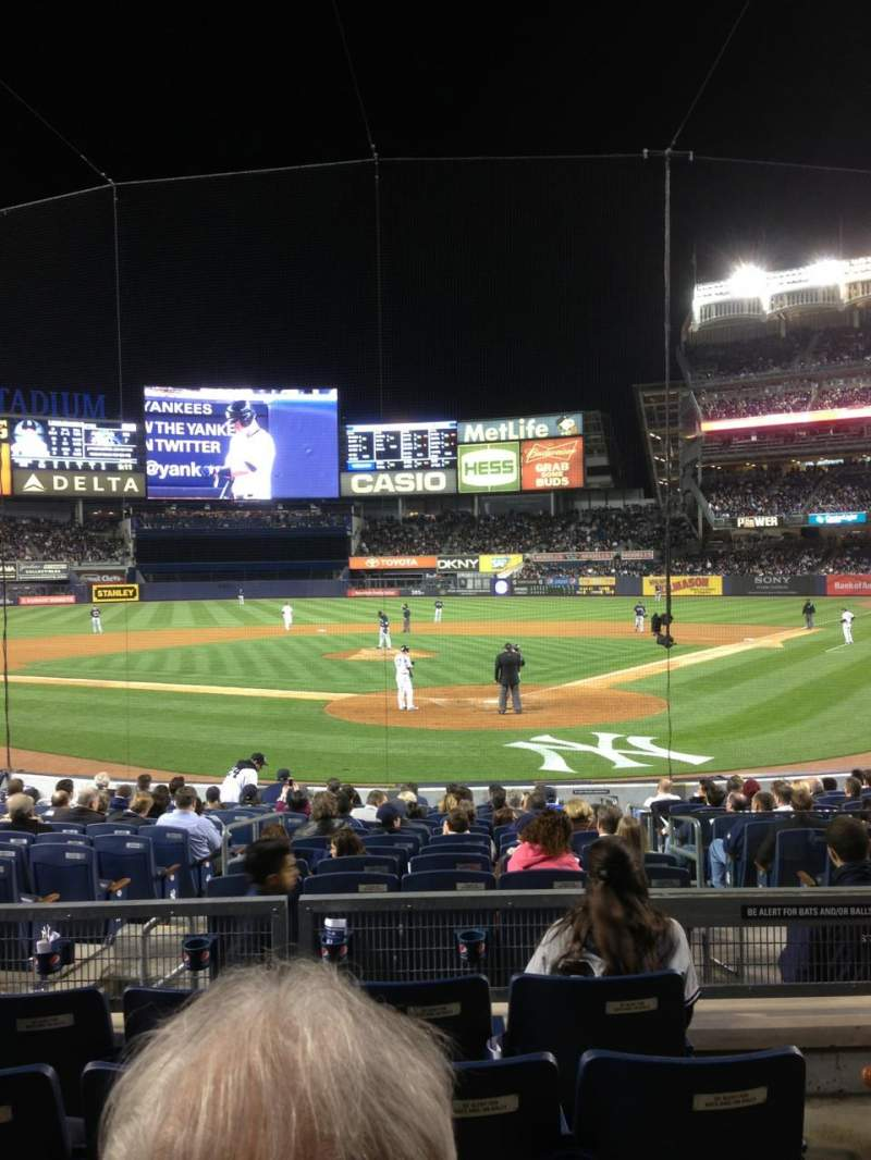 Seating view for Yankee Stadium Section 113 Row 15 Seat 4