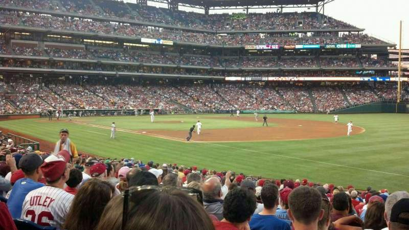 Seating view for Citizens Bank Park Section 111 Row 23 Seat 4