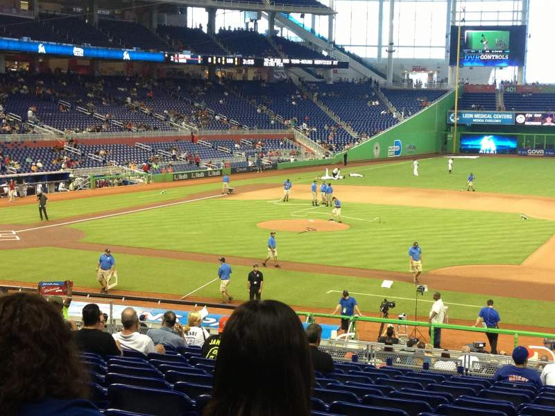 Seating view for Marlins Park Section 8 Row 14 Seat 11