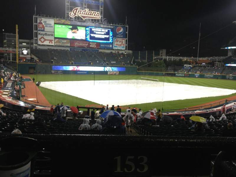 Seating view for Progressive Field Section 153 Row HH Seat 1
