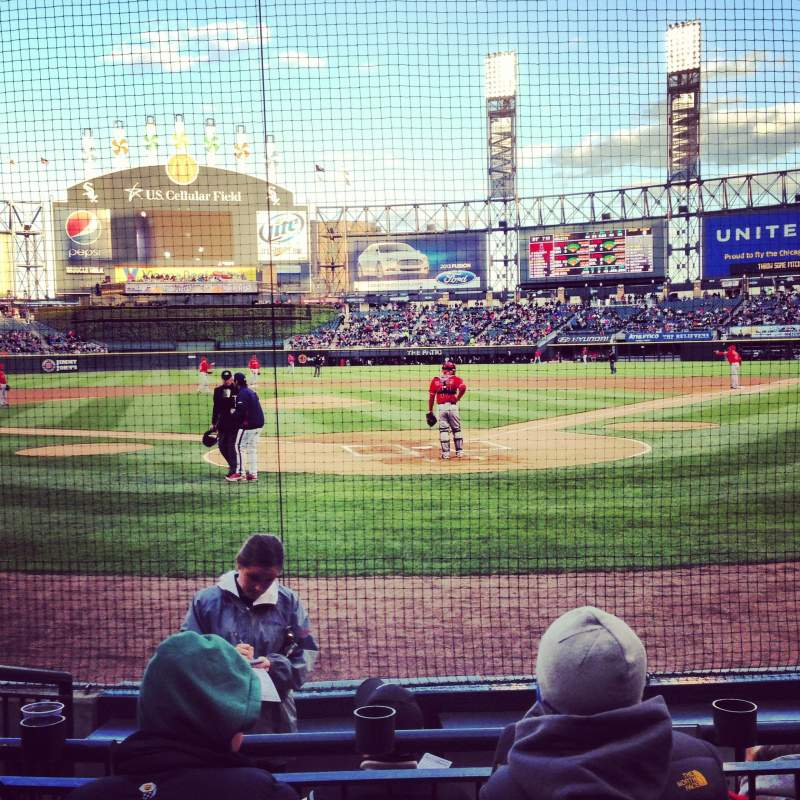 Seating view for Guaranteed Rate Field Section 133 Row 5 Seat 3