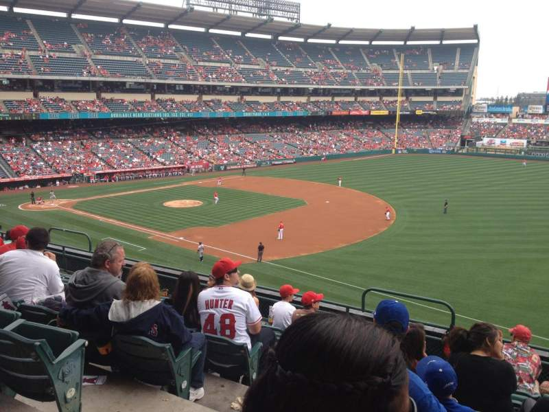 Seating view for Angel Stadium Section 341 Row G Seat 3