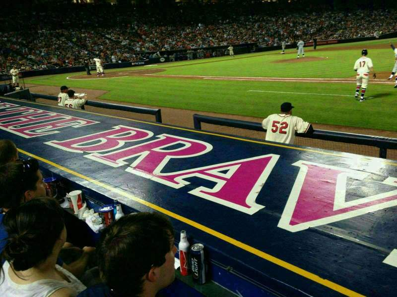 Seating view for Turner Field Section 113 Row 7 Seat 103