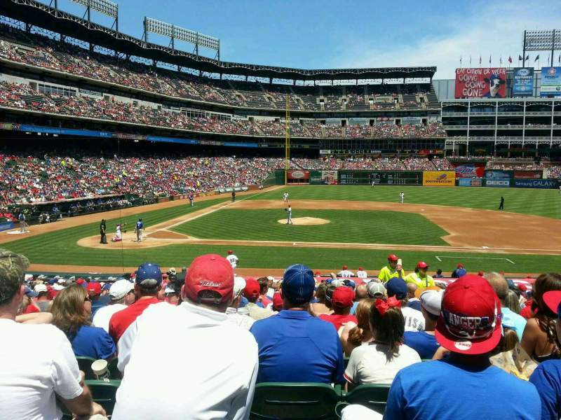 Seating view for Globe Life Park in Arlington Section 32 Row 23 Seat 12