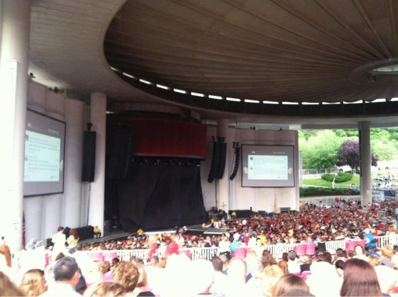Seating view for PNC Bank Arts Center Section 405 Row G Seat 27