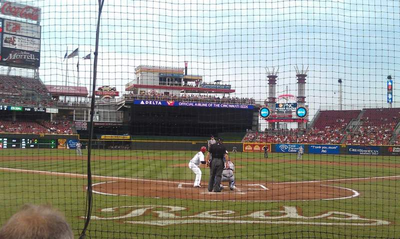 Seating view for Great American Ball Park Section 4 Row C Seat 4