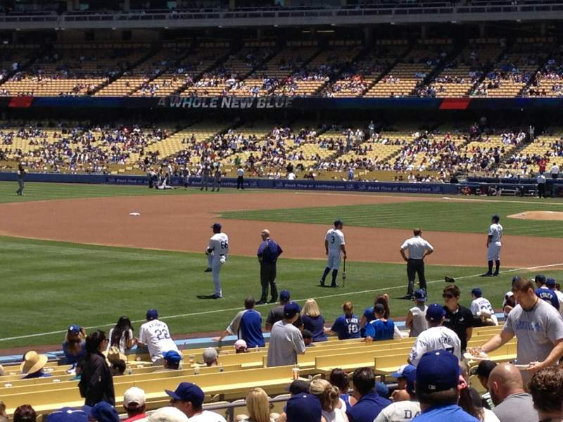 Seating view for Dodger Stadium Section 43FD Row P Seat 4