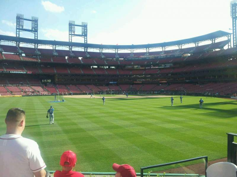 Seating view for Busch Stadium Section 593 Row 3 Seat 1