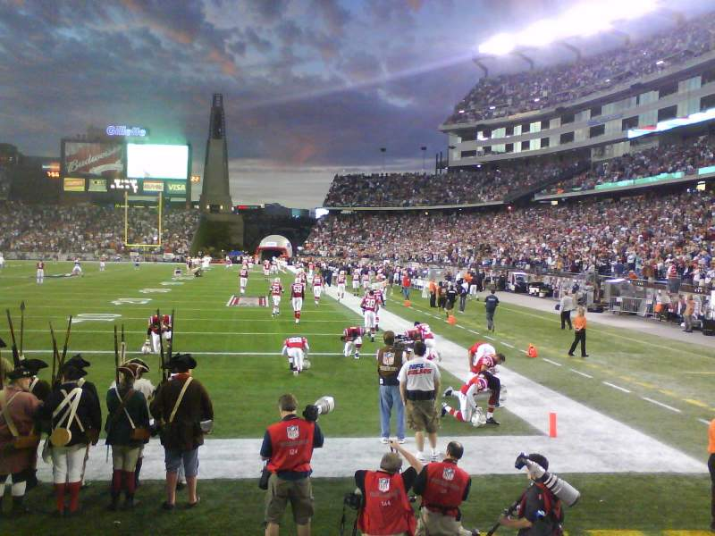 Seating view for Gillette Stadium Section 119 Row 4 Seat 13