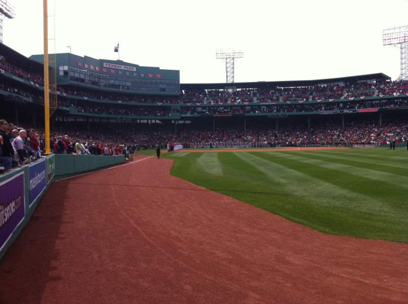 Seating view for Fenway Park Section Right Field Box 3 Row D Seat 5
