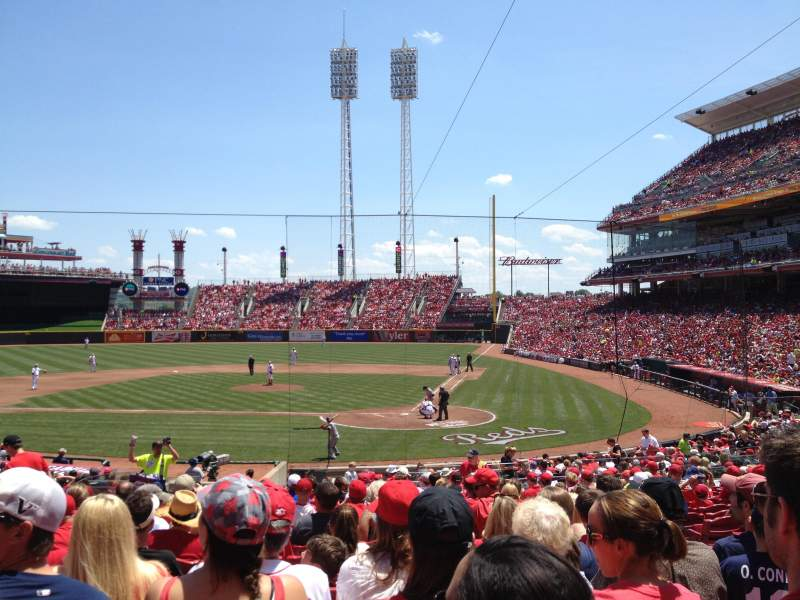 Seating view for Great American Ball Park Section 120 Row DD Seat 6