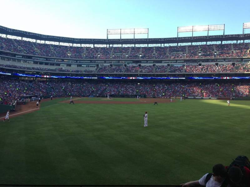 Seating view for Globe Life Park in Arlington Section 45 Row 5 Seat 12