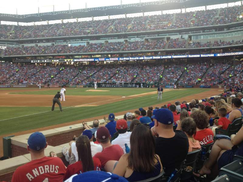 Seating view for Globe Life Park in Arlington Section 15 Row 5 Seat 12