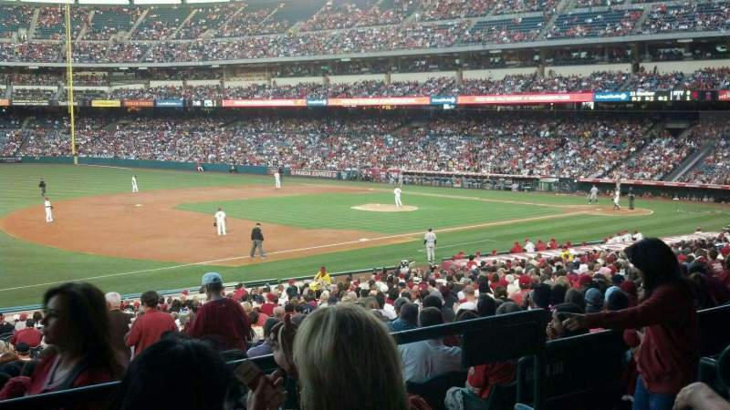 Seating view for Angel Stadium Section T208 Row C Seat 21