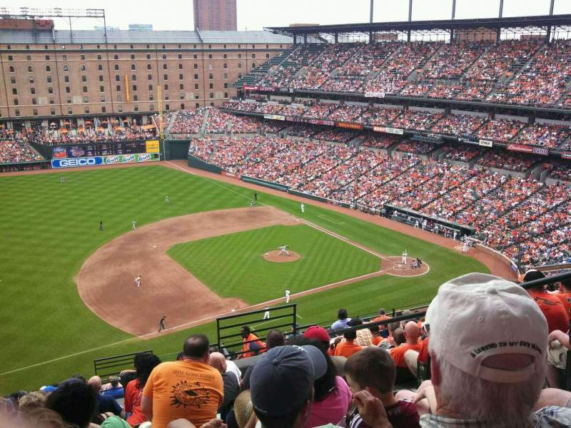 Seating view for Oriole Park at Camden Yards Section 360 Row 20 Seat 1