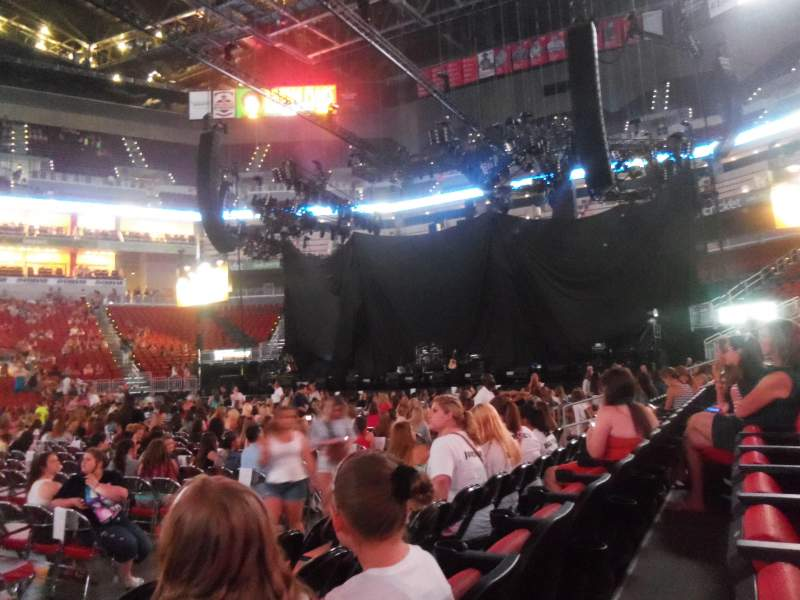 Seating view for KFC Yum! Center Section 106 Row D Seat 19