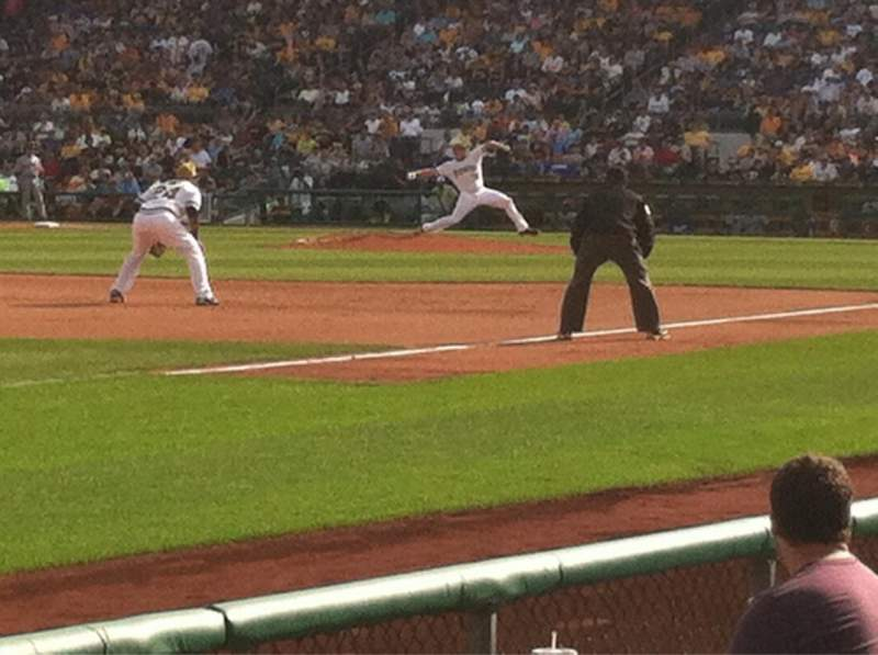 Seating view for PNC Park Section 29 Row F Seat 2