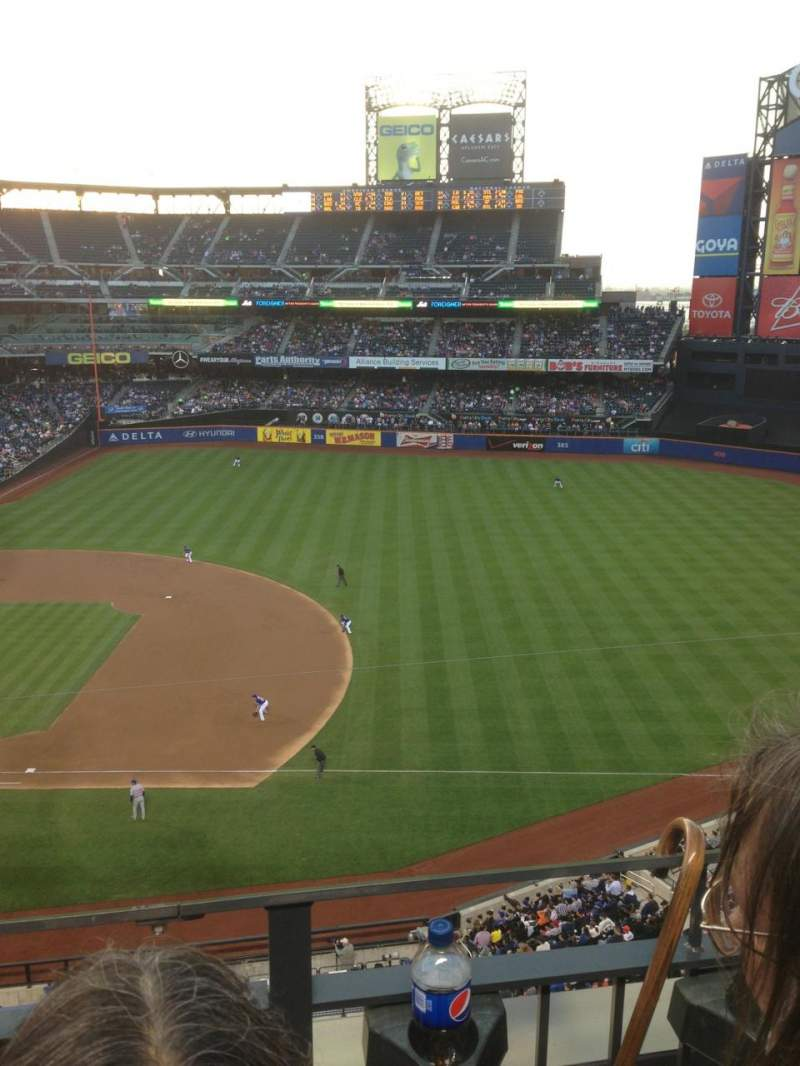 Seating view for Citi Field Section 406 Row 2 Seat 9