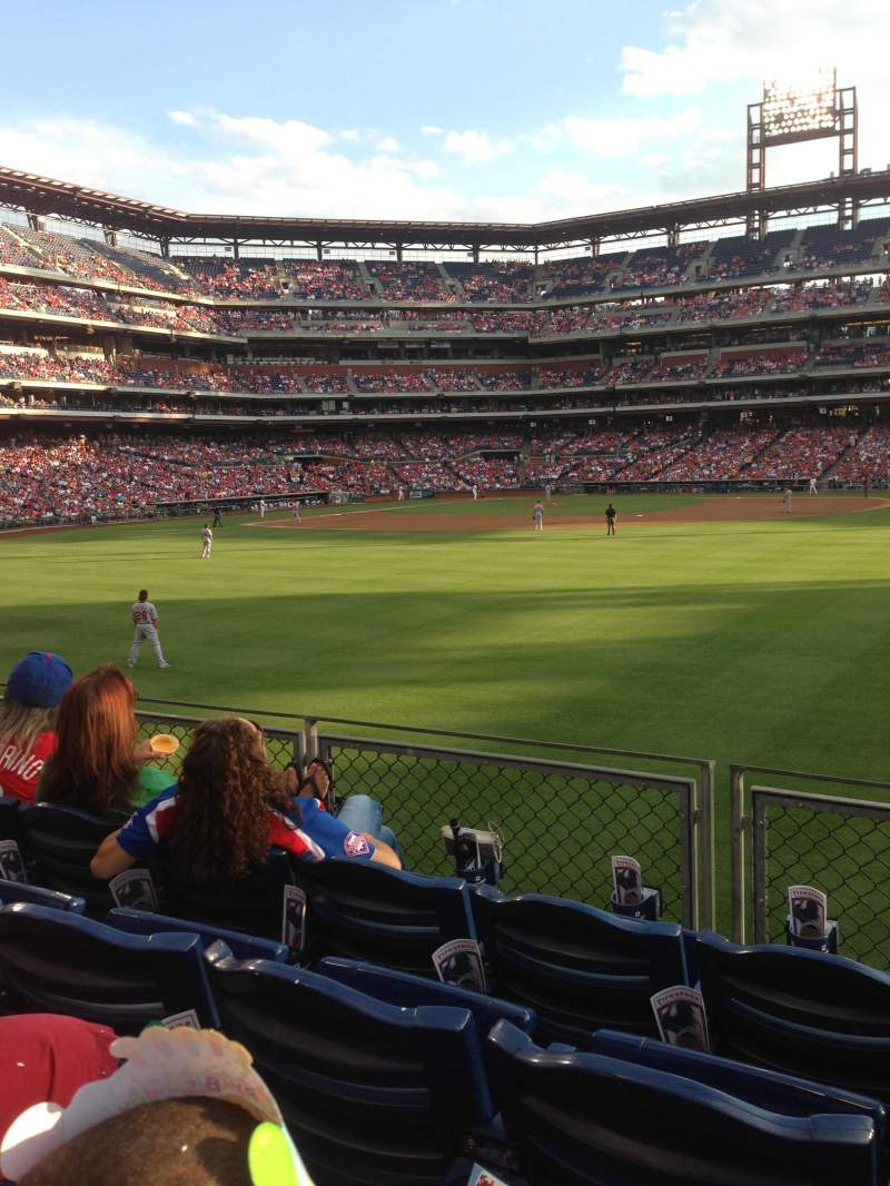 Citizens Bank Park, section: 102, row: 4, seat: 5