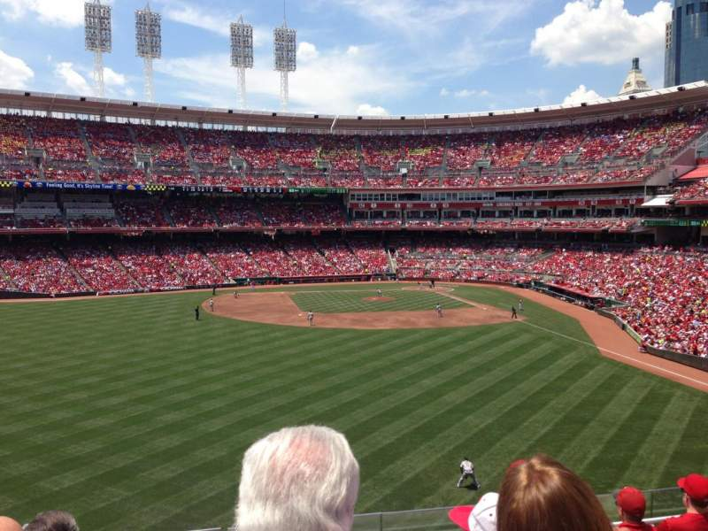 Seating view for Great American Ball Park Section 403 Row F Seat 13
