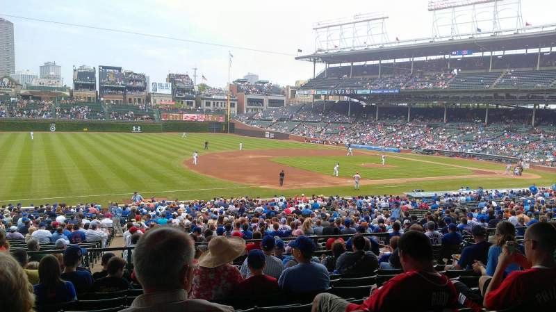Seating view for Wrigley Field Section 208 Row 9 Seat 12