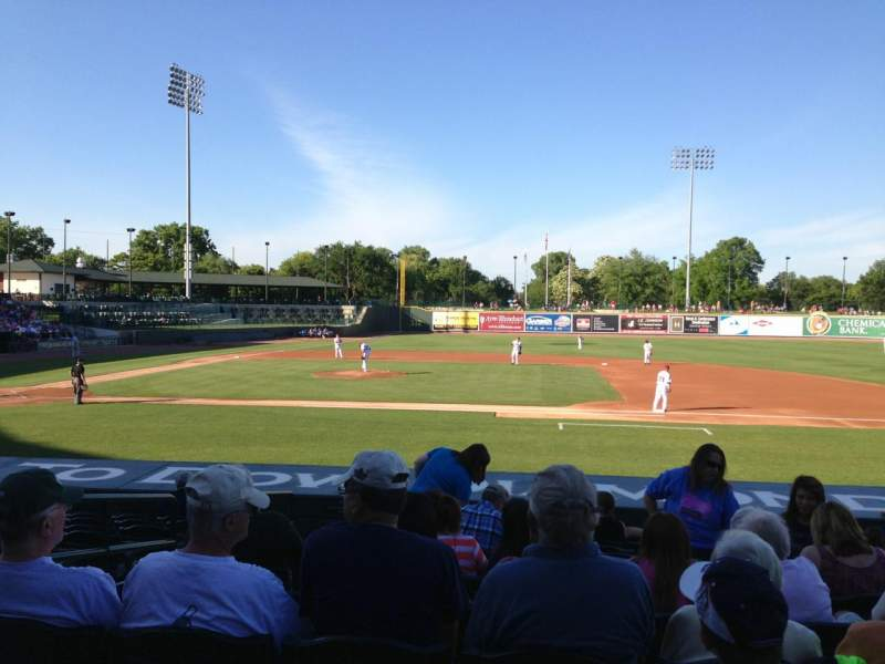 Seating view for Dow Diamond Section 112 Row 15 Seat 4