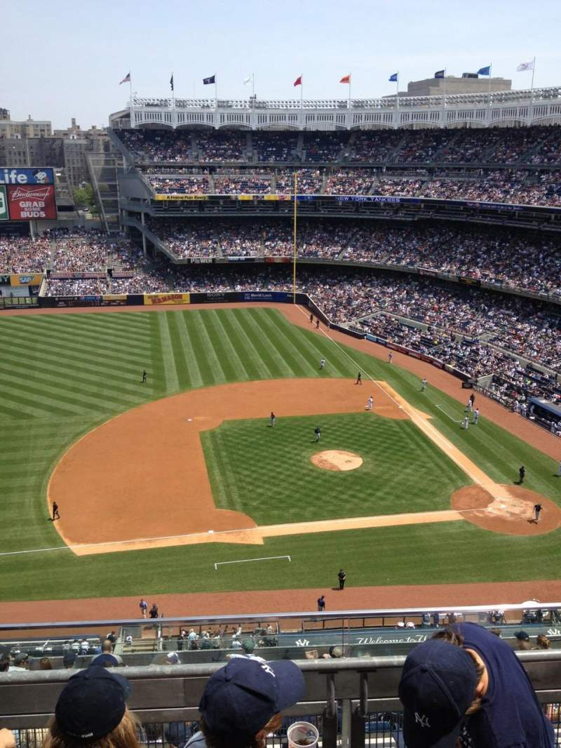 Seating view for Yankee Stadium Section 425 Row 3 Seat 2