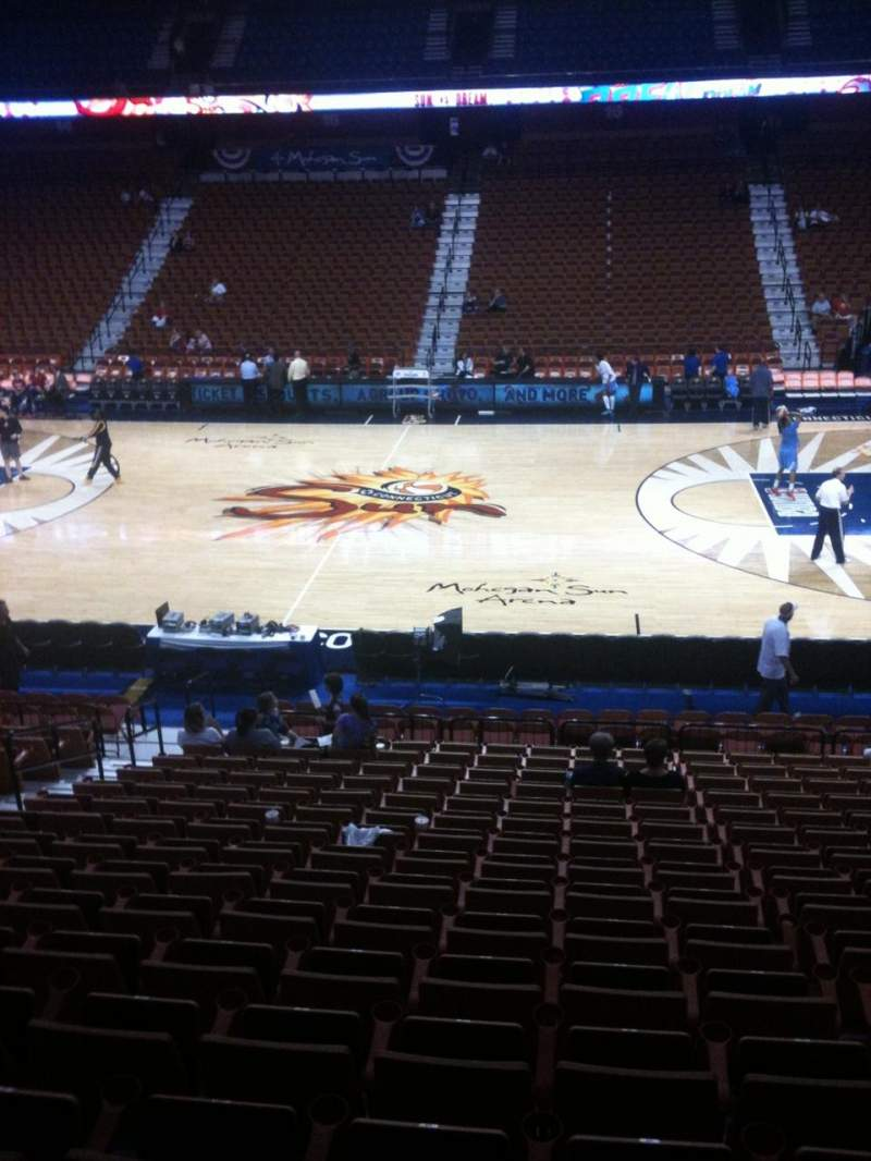 Seating view for Mohegan Sun Arena Section 24 Row T Seat 14