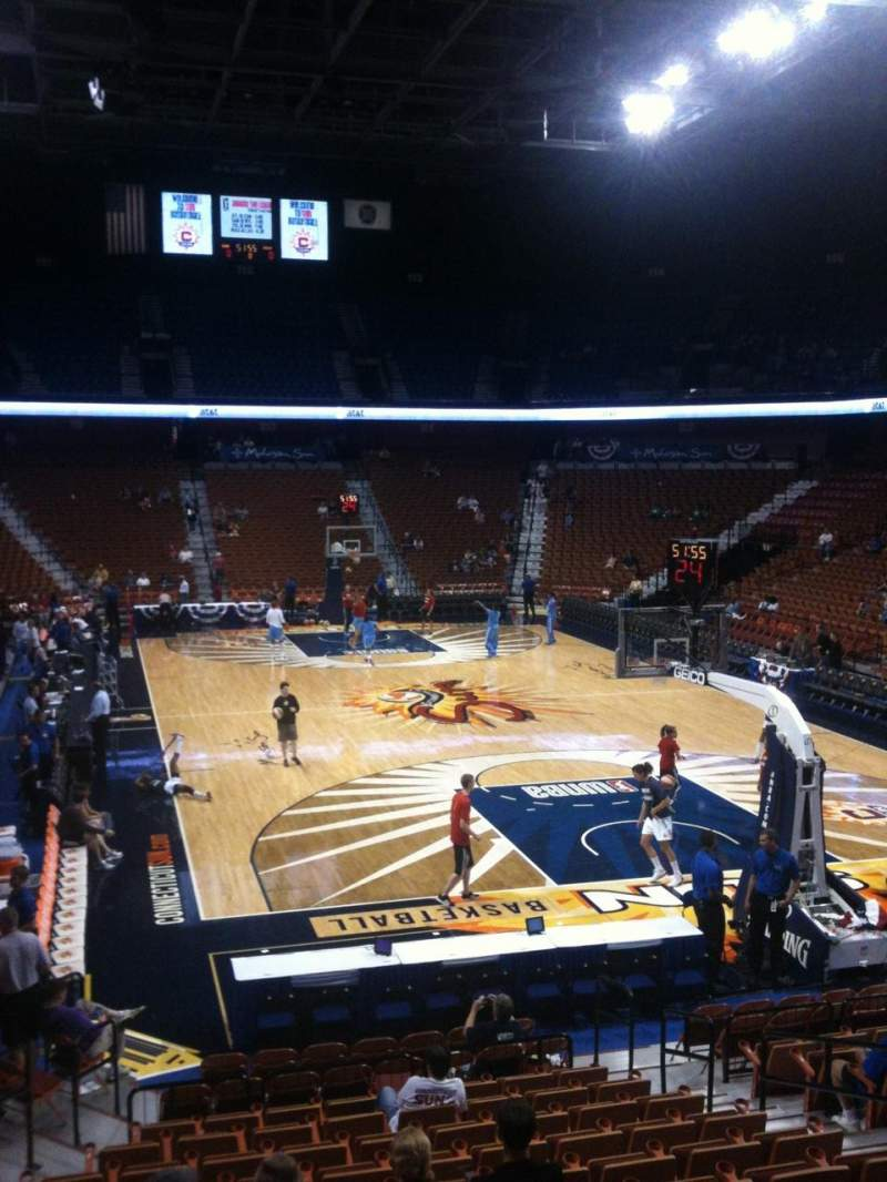 Seating view for Mohegan Sun Arena Section 12 Row Q Seat 9