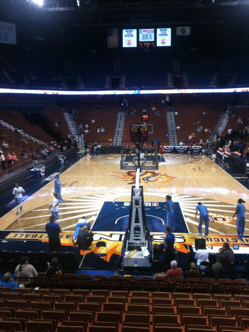 Seating view for Mohegan Sun Arena Section 20 Row P Seat 7