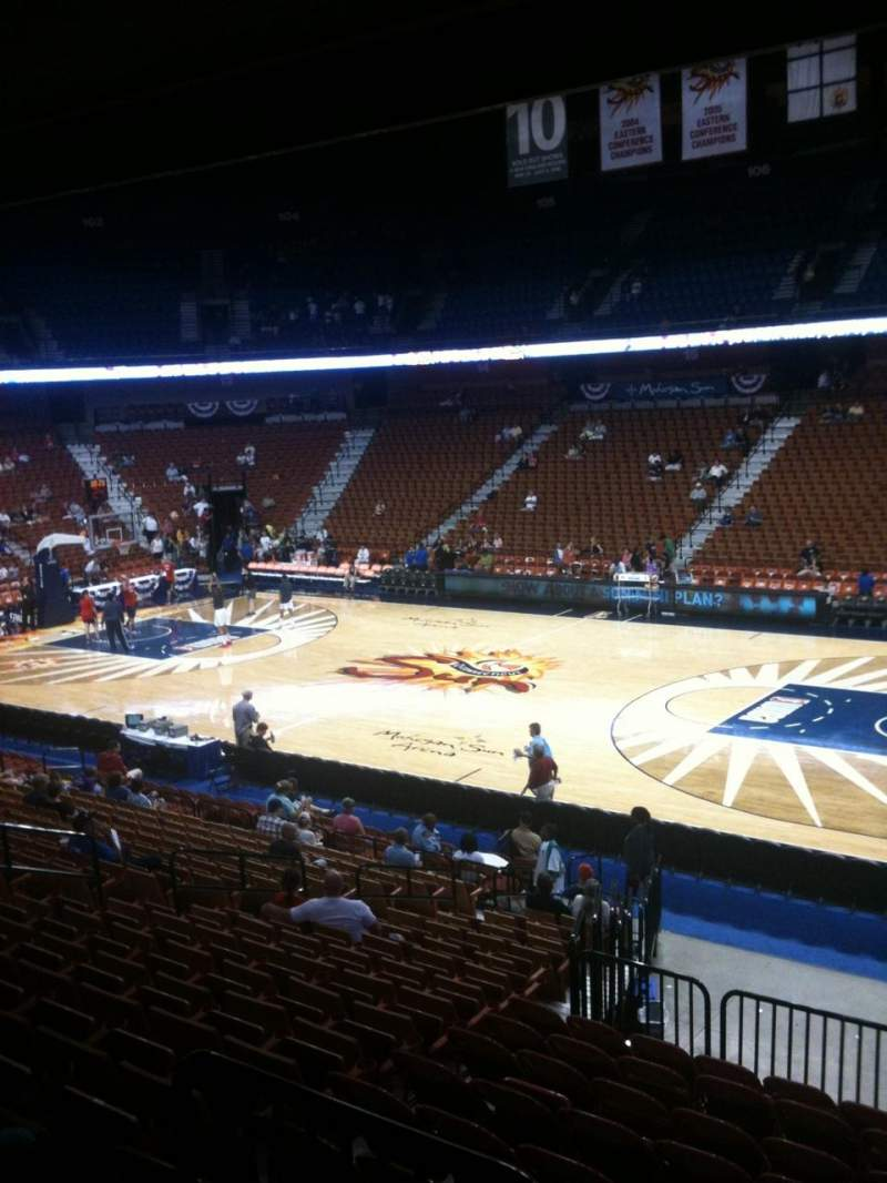 Seating view for Mohegan sun Arena Section 23 Row U Seat 1