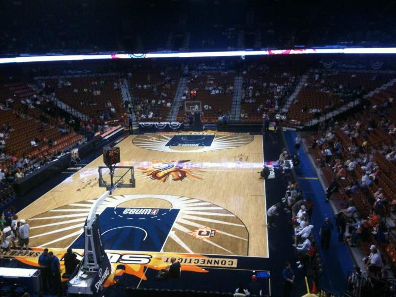 Seating view for Mohegan Sun Arena Section 122 Row A Seat 11