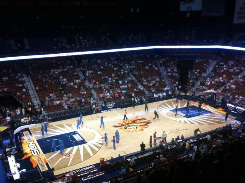 Seating view for Mohegan Sun Arena Section 108 Row L Seat 19