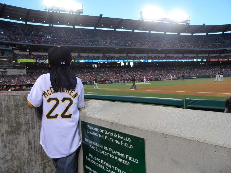 Seating view for Angel Stadium Section F127 Row A Seat 1