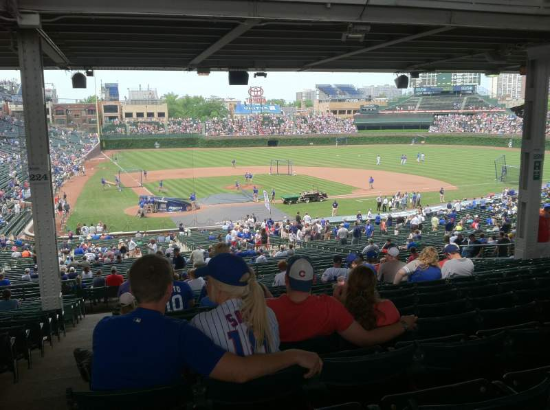 Seating view for Wrigley Field Section 224 Row 19 Seat 1