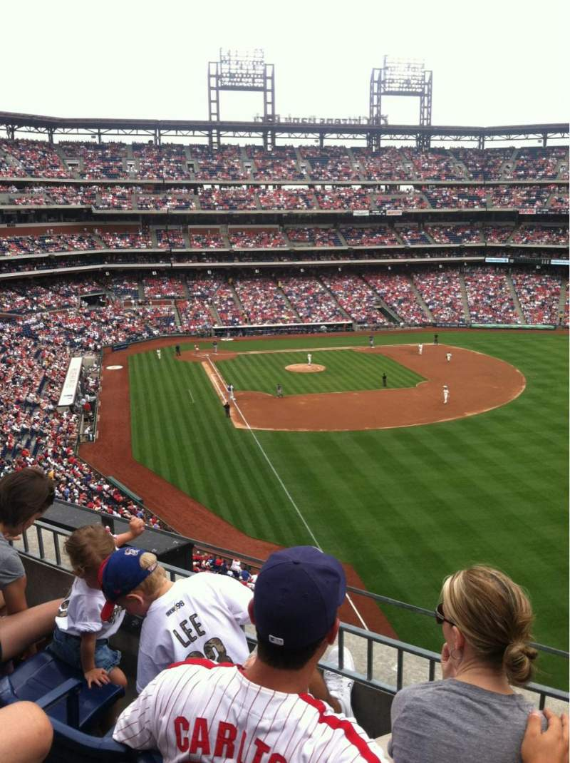 Seating view for Citizens Bank Park Section 307 Row 4 Seat 4