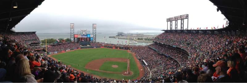 Seating view for AT&T Park Section 320 Row 17 Seat 9