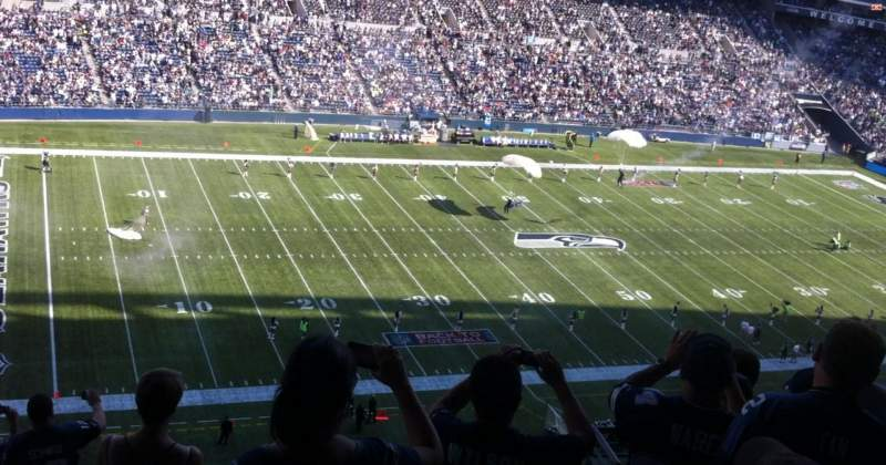 Seating view for CenturyLink Field Section 339 Row L Seat 5