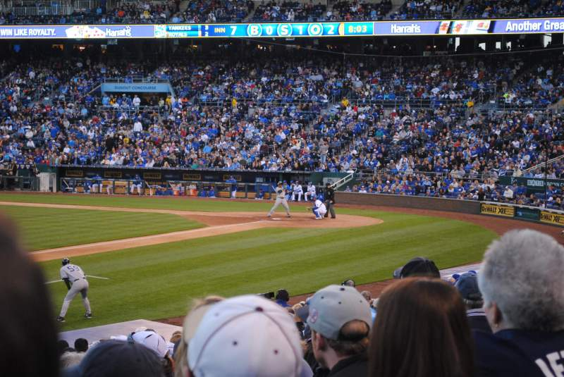 Seating view for Kauffman Stadium Section 116 Row T Seat 1