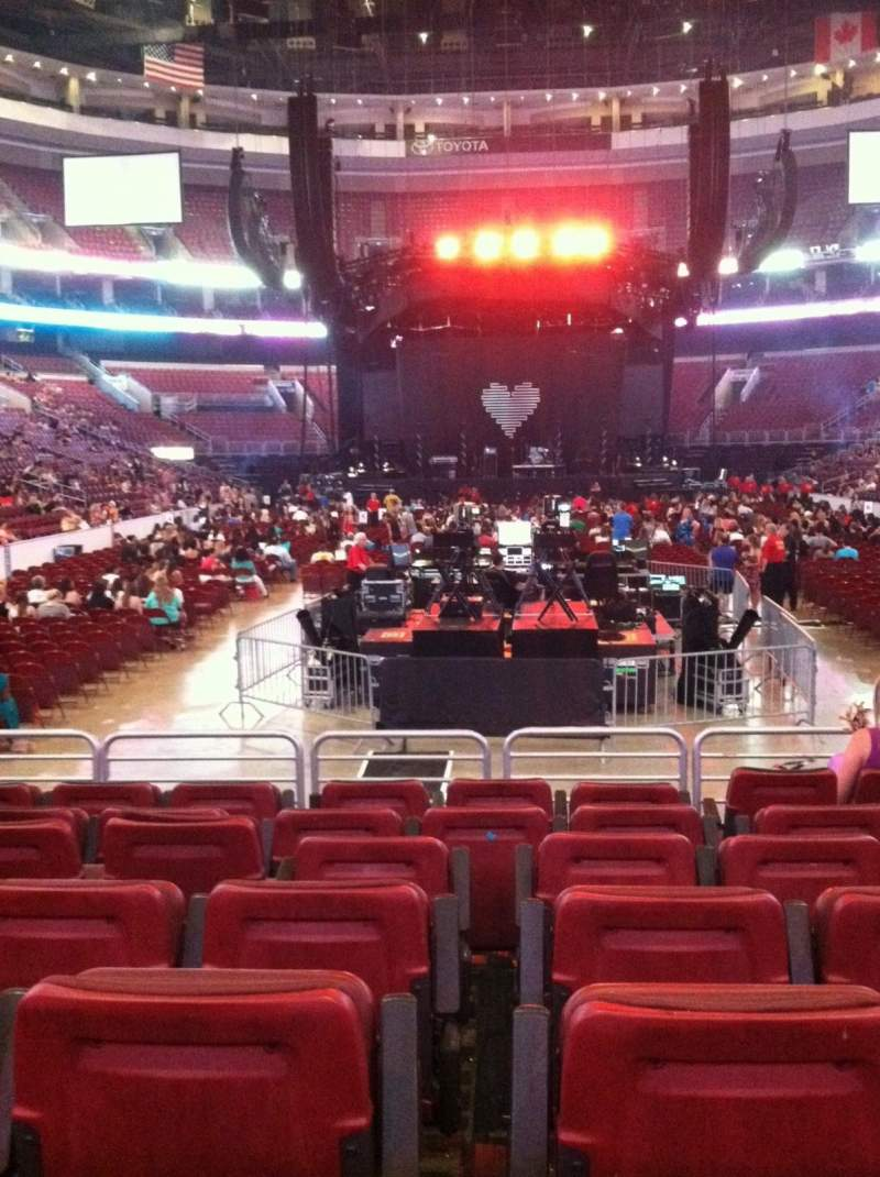 Seating view for Wells Fargo Center Section 107 Row 7 Seat 7