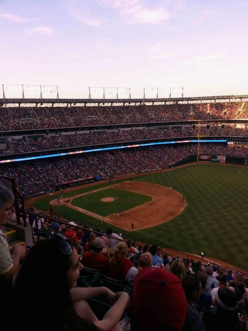 Seating view for Globe Life Park in Arlington Section 339 Row 15 Seat 11