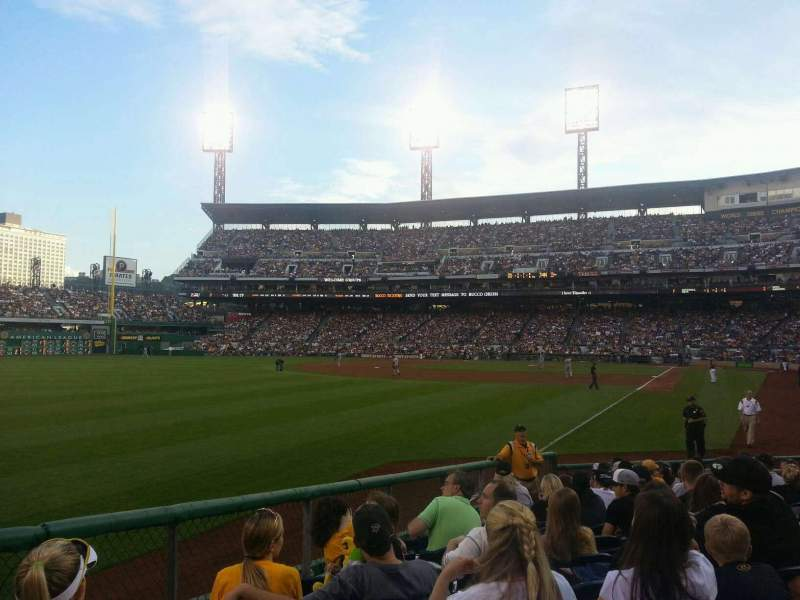 Seating view for PNC Park Section 131 Row A Seat 17