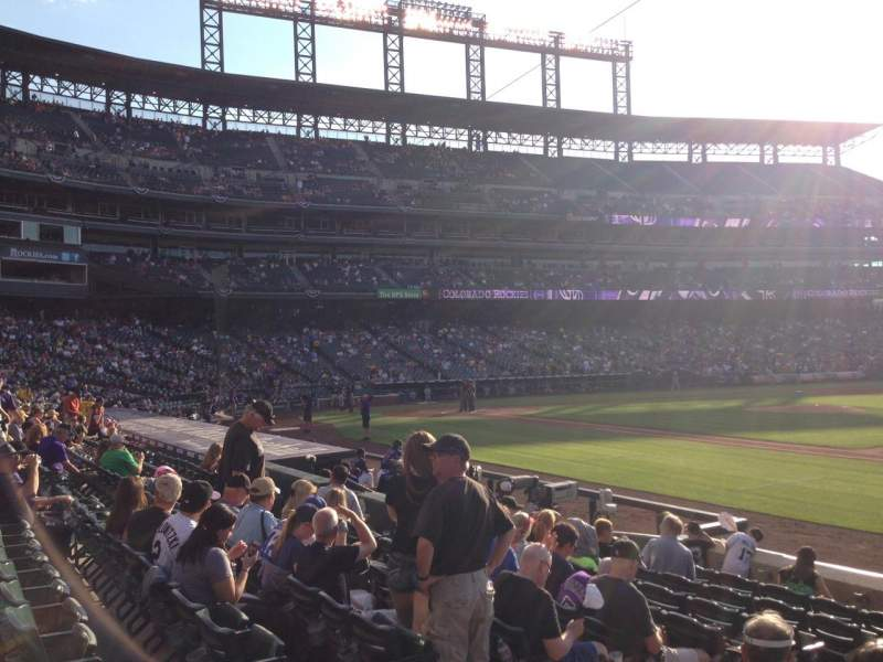 Seating view for Coors Field Section 120 Row 10 Seat 9