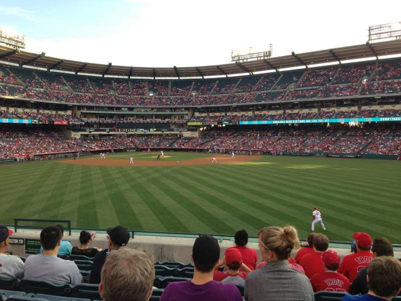Seating view for Angel Stadium Section 240 Row H Seat 8