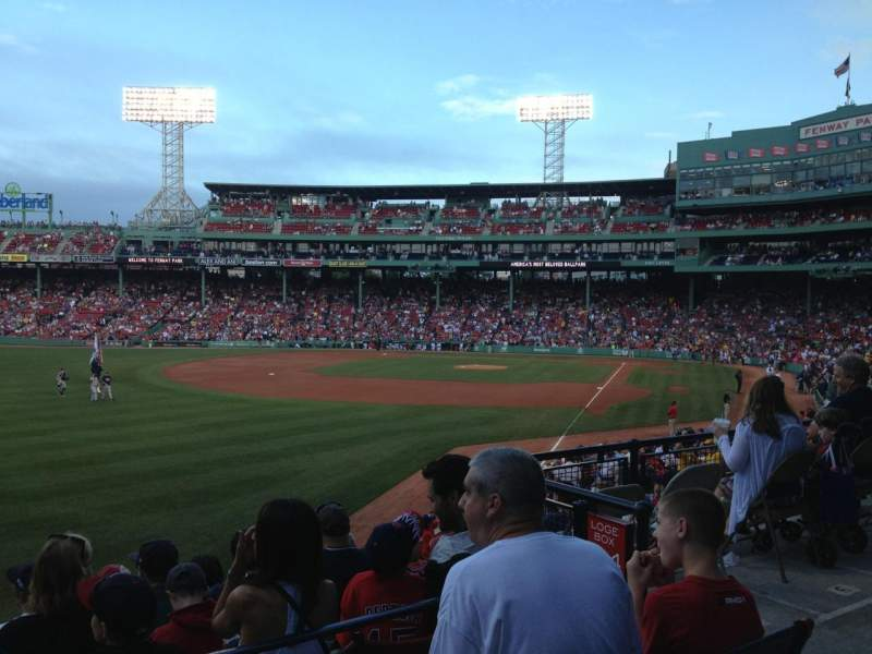 Seating view for Fenway Park Section Grandstand 33 Row 3 Seat 5