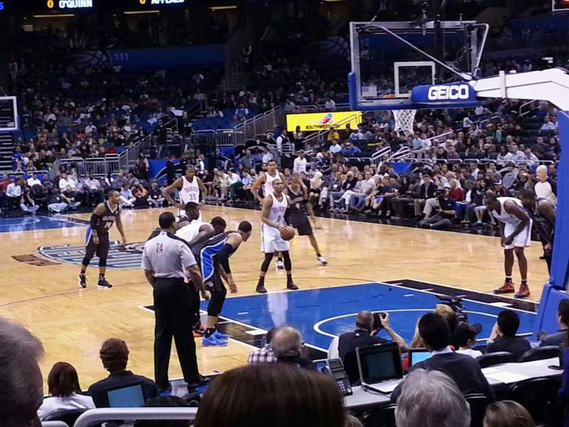 Seating view for Amway Center Section 102 Row 4 Seat 8