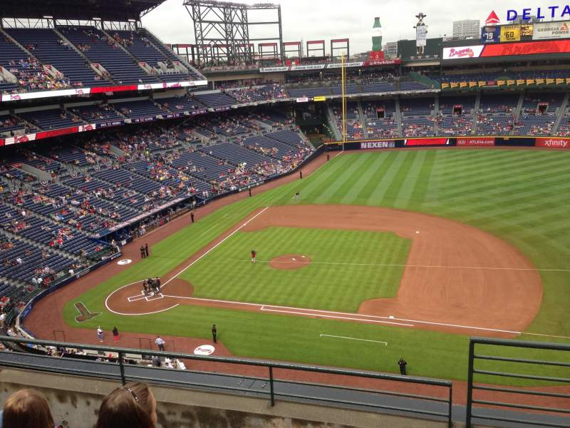 Seating view for Turner Field Section 413 Row 4 Seat 101