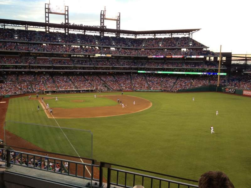 Seating view for Citizens Bank Park Section 206 Row 3 Seat 18